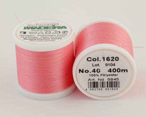 1620/9845 Polyneon №40 высокопрочная вышивальная нить, 100% полиэстер, 400 м