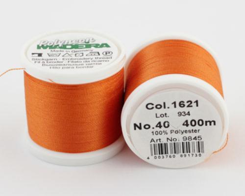 1621/9845 Polyneon №40 высокопрочная вышивальная нить, 100% полиэстер, 400 м