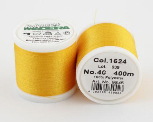 1624/9845 Polyneon №40 высокопрочная вышивальная нить, 100% полиэстер, 400 м