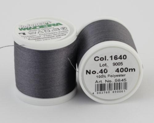 1640/9845 Polyneon №40 высокопрочная вышивальная нить, 100% полиэстер, 400 м
