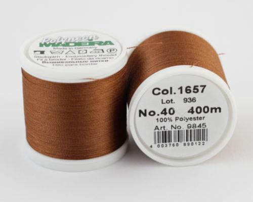 1657/9845 Polyneon №40 высокопрочная вышивальная нить, 100% полиэстер, 400 м