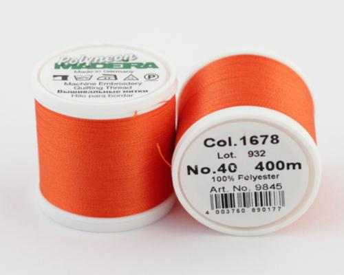 1678/9845 Polyneon №40 высокопрочная вышивальная нить, 100% полиэстер, 400 м