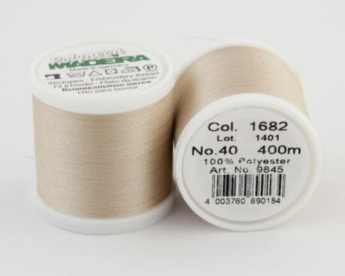 1682/9845 Polyneon №40 высокопрочная вышивальная нить, 100% полиэстер, 400 м