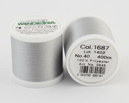1687/9845 Polyneon №40 высокопрочная вышивальная нить, 100% полиэстер, 400 м