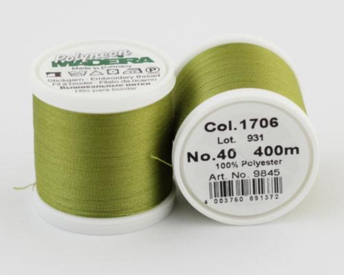 1706/9845 Polyneon №40 высокопрочная вышивальная нить, 100% полиэстер, 400 м