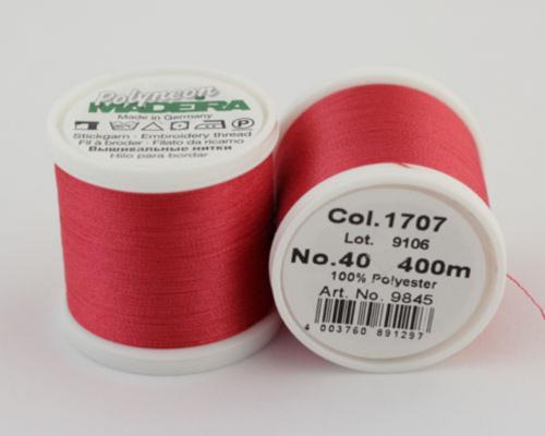 1707/9845 Polyneon №40 высокопрочная вышивальная нить, 100% полиэстер, 400 м