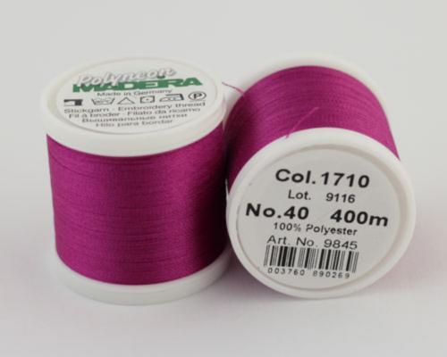 1710/9845 Polyneon №40 высокопрочная вышивальная нить, 100% полиэстер, 400 м