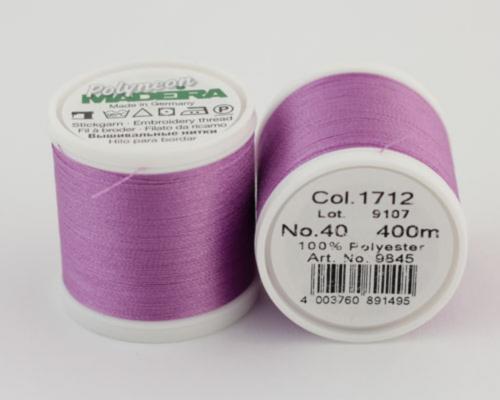 1712/9845 Polyneon №40 высокопрочная вышивальная нить, 100% полиэстер, 400 м