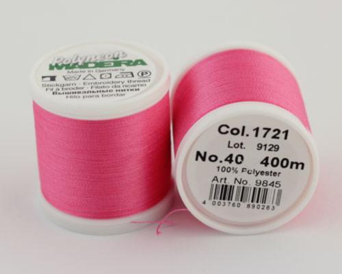 1721/9845 Polyneon №40 высокопрочная вышивальная нить, 100% полиэстер, 400 м
