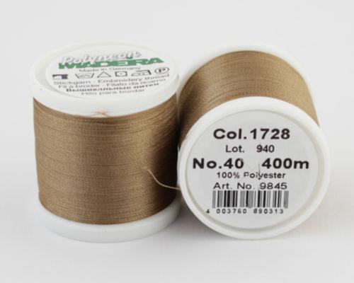 1728/9845 Polyneon №40 высокопрочная вышивальная нить, 100% полиэстер, 400 м