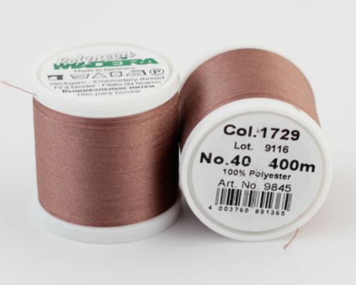1729/9845 Polyneon №40 высокопрочная вышивальная нить, 100% полиэстер, 400 м
