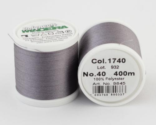 1740/9845 Polyneon №40 высокопрочная вышивальная нить, 100% полиэстер, 400 м