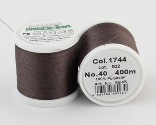 1744/9845 Polyneon №40 высокопрочная вышивальная нить, 100% полиэстер, 400 м