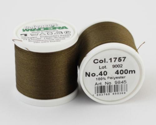 1757/9845 Polyneon №40 высокопрочная вышивальная нить, 100% полиэстер, 400 м