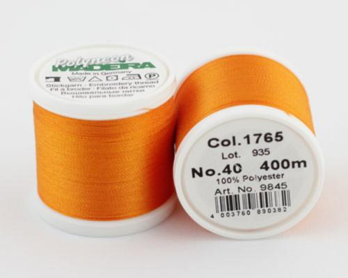 1765/9845 Polyneon №40 высокопрочная вышивальная нить, 100% полиэстер, 400 м