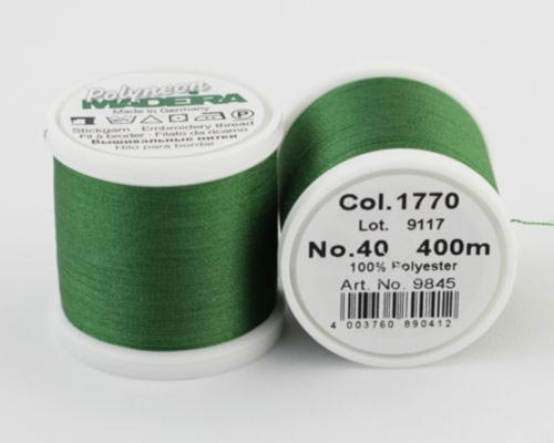 1770/9845 Polyneon №40 высокопрочная вышивальная нить, 100% полиэстер, 400 м