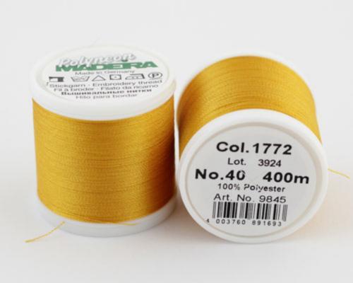 1772/9845 Polyneon №40 высокопрочная вышивальная нить, 100% полиэстер, 400 м