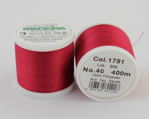 1781/9845 Polyneon №40 высокопрочная вышивальная нить, 100% полиэстер, 400 м