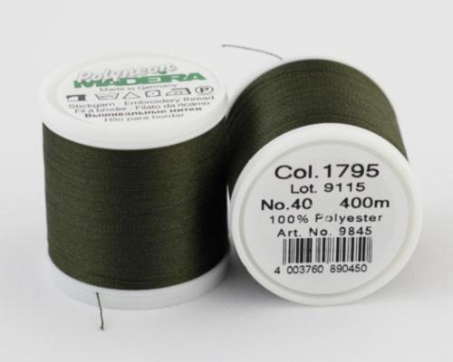 1795/9845 Polyneon №40 высокопрочная вышивальная нить, 100% полиэстер, 400 м