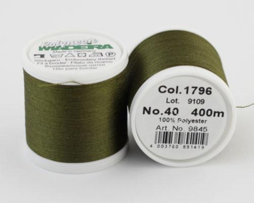 1796/9845 Polyneon №40 высокопрочная вышивальная нить, 100% полиэстер, 400 м