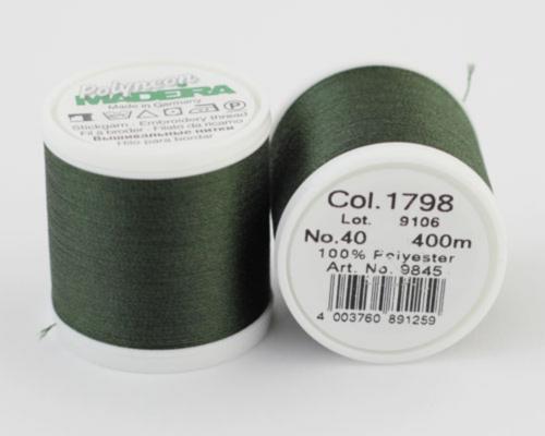 1798/9845 Polyneon №40 высокопрочная вышивальная нить, 100% полиэстер, 400 м
