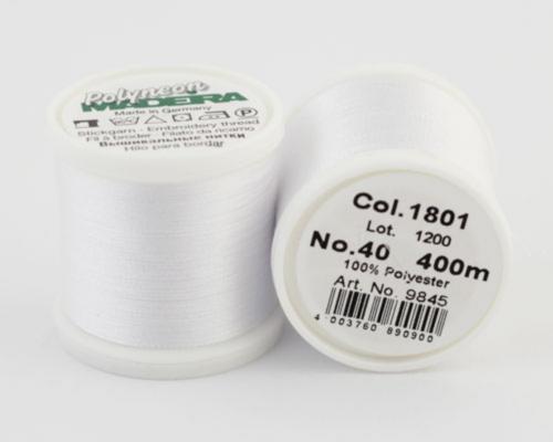 1801/9845 Polyneon №40 высокопрочная вышивальная нить, 100% полиэстер, 400 м