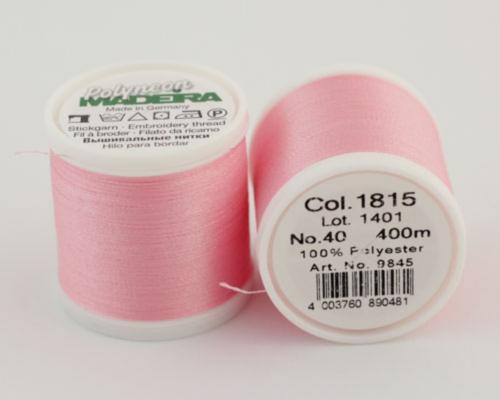 1815/9845 Polyneon №40 высокопрочная вышивальная нить, 100% полиэстер, 400 м