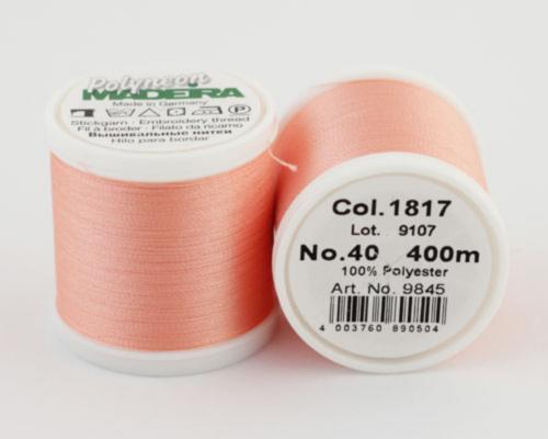 1817/9845 Polyneon №40 высокопрочная вышивальная нить, 100% полиэстер, 400 м