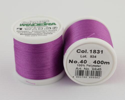 1831/9845 Polyneon №40 высокопрочная вышивальная нить, 100% полиэстер, 400 м