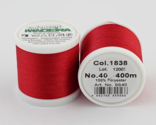 1838/9845 Polyneon №40 высокопрочная вышивальная нить, 100% полиэстер, 400 м