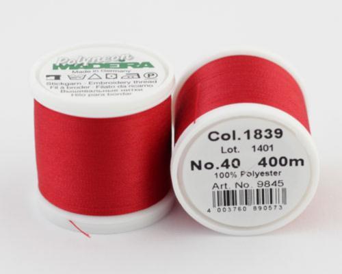 1839/9845 Polyneon №40 высокопрочная вышивальная нить, 100% полиэстер, 400 м