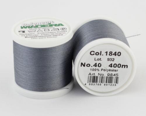 1840/9845 Polyneon №40 высокопрочная вышивальная нить, 100% полиэстер, 400 м