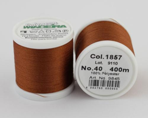 1857/9845 Polyneon №40 высокопрочная вышивальная нить, 100% полиэстер, 400 м