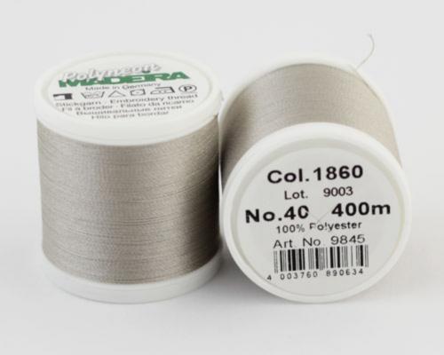 1860/9845 Polyneon №40 высокопрочная вышивальная нить, 100% полиэстер, 400 м