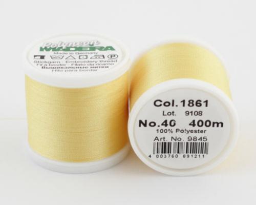 1861/9845 Polyneon №40 высокопрочная вышивальная нить, 100% полиэстер, 400 м