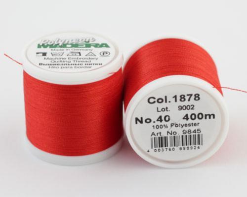 1878/9845 Polyneon №40 высокопрочная вышивальная нить, 100% полиэстер, 400 м
