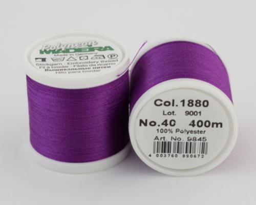 1880/9845 Polyneon №40 высокопрочная вышивальная нить, 100% полиэстер, 400 м