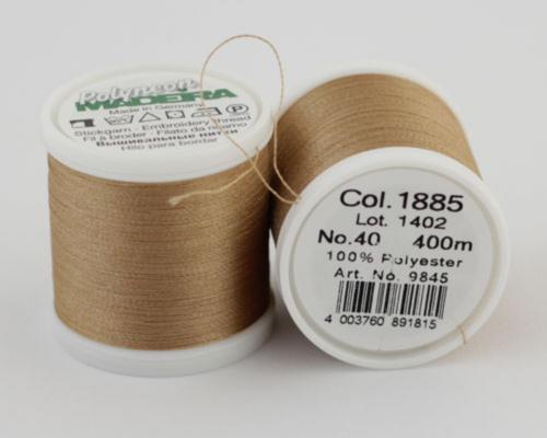 1885/9845 Polyneon №40 высокопрочная вышивальная нить, 100% полиэстер, 400 м