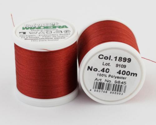 1899/9845 Polyneon №40 высокопрочная вышивальная нить, 100% полиэстер, 400 м
