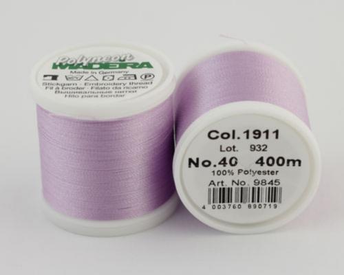 1911/9845 Polyneon №40 высокопрочная вышивальная нить, 100% полиэстер, 400 м