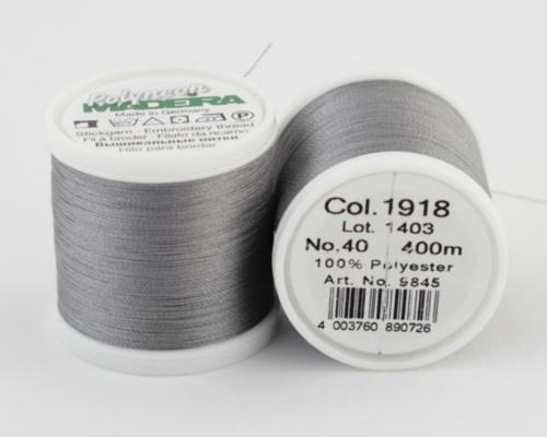 1918/9845 Polyneon №40 высокопрочная вышивальная нить, 100% полиэстер, 400 м