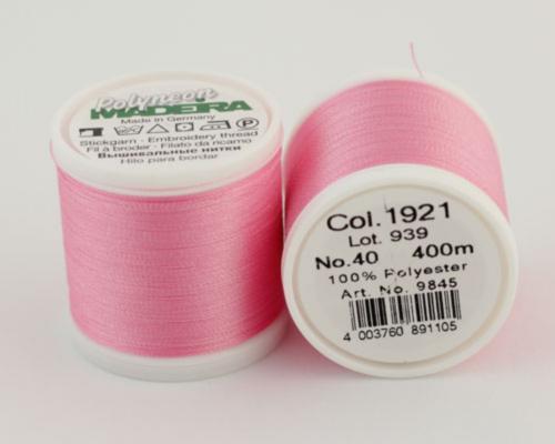 1921/9845 Polyneon №40 высокопрочная вышивальная нить, 100% полиэстер, 400 м