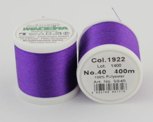 1922/9845 Polyneon №40 высокопрочная вышивальная нить, 100% полиэстер, 400 м
