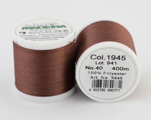 1945/9845 Polyneon №40 высокопрочная вышивальная нить, 100% полиэстер, 400 м