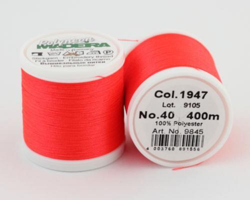 1947/9845 Polyneon №40 высокопрочная вышивальная нить, 100% полиэстер, 400 м