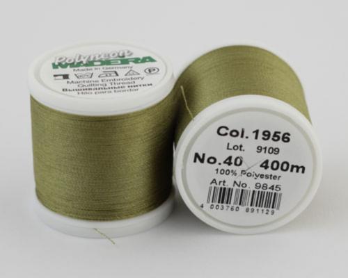 1956/9845 Polyneon №40 высокопрочная вышивальная нить, 100% полиэстер, 400 м
