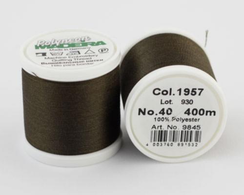 1957/9845 Polyneon №40 высокопрочная вышивальная нить, 100% полиэстер, 400 м