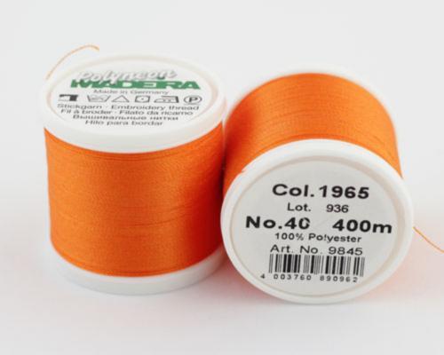 1965/9845 Polyneon №40 высокопрочная вышивальная нить, 100% полиэстер, 400 м