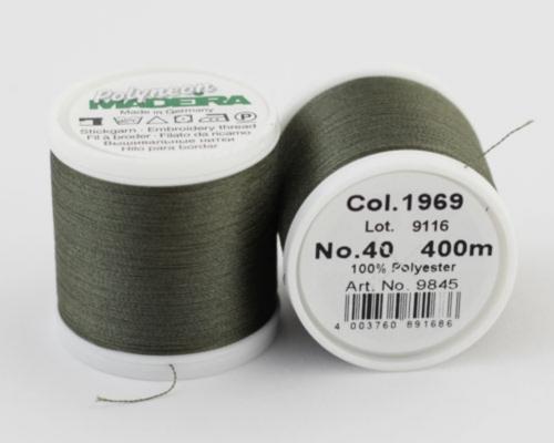 1969/9845 Polyneon №40 высокопрочная вышивальная нить, 100% полиэстер, 400 м