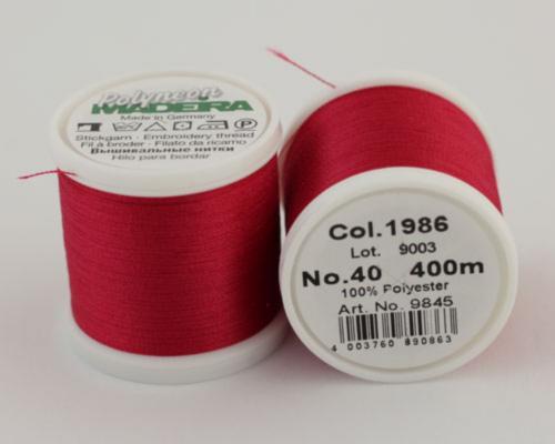 1986/9845 Polyneon №40 высокопрочная вышивальная нить, 100% полиэстер, 400 м